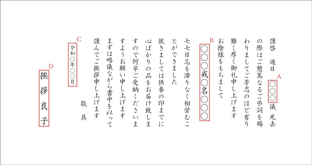 七七日忌・四十九日法要・満中陰...