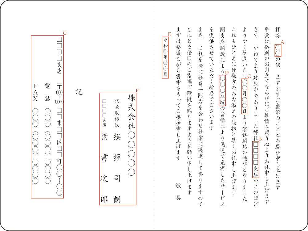 竣工落成通知はがき・挨拶状の文例集 - 良いあいさつ状.com